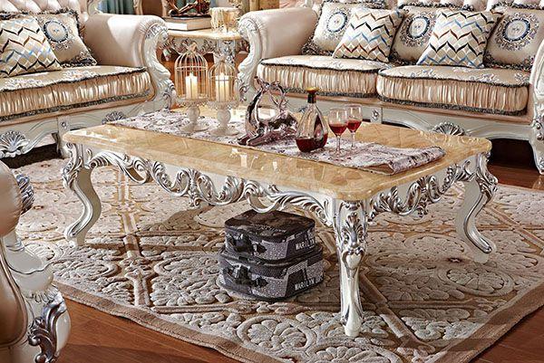 bàn trà sofa tân cổ điển cho phòng khách