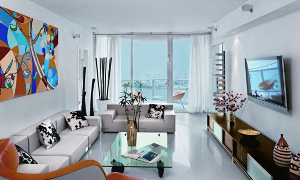Phòng khách chung cư lựa chọn nội thất thiết kế mang phong cách hiện đại.