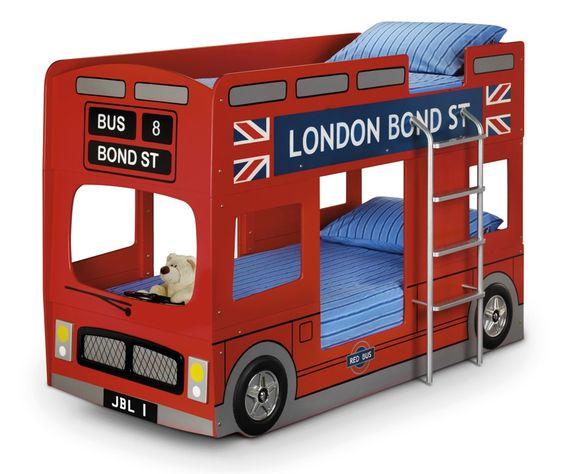 giường ngủ xe bus 2 tầng cho bé trai
