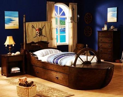 giường ngủ hình thuyền cho bé trai