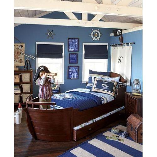 giường ngủ tàu thuyền cho trẻ con trai