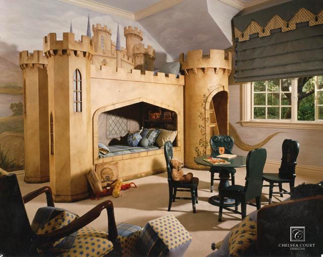 giường ngủ lâu đài bằng gỗ cho bé trai
