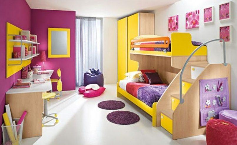 giường ngủ 2 tầng dễ thương cho bé gái