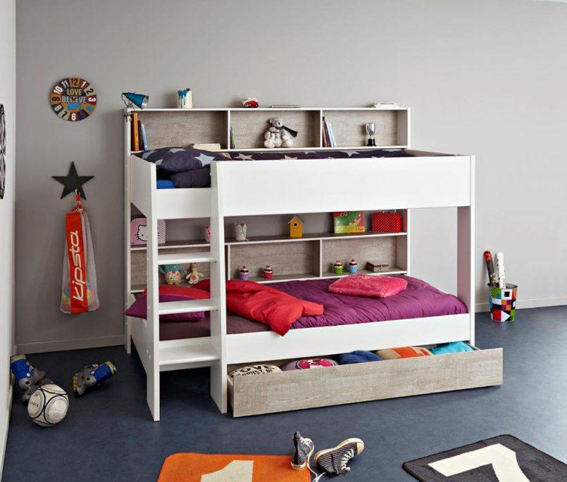 giường ngủ 2 tầng cho bé trai bằng gỗ