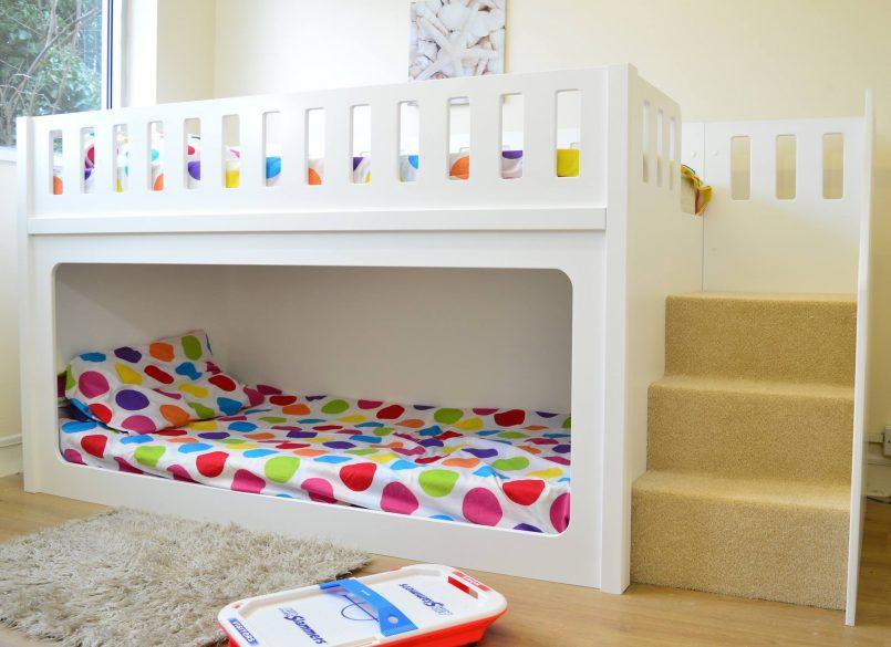 giường ngủ 2 tầng bằng gỗ đơn giản
