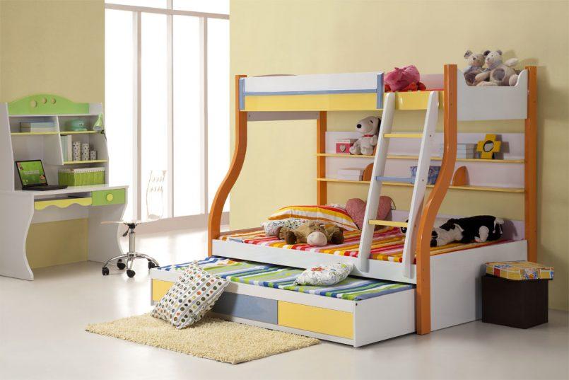 giường 3 tầng cho trẻ em.