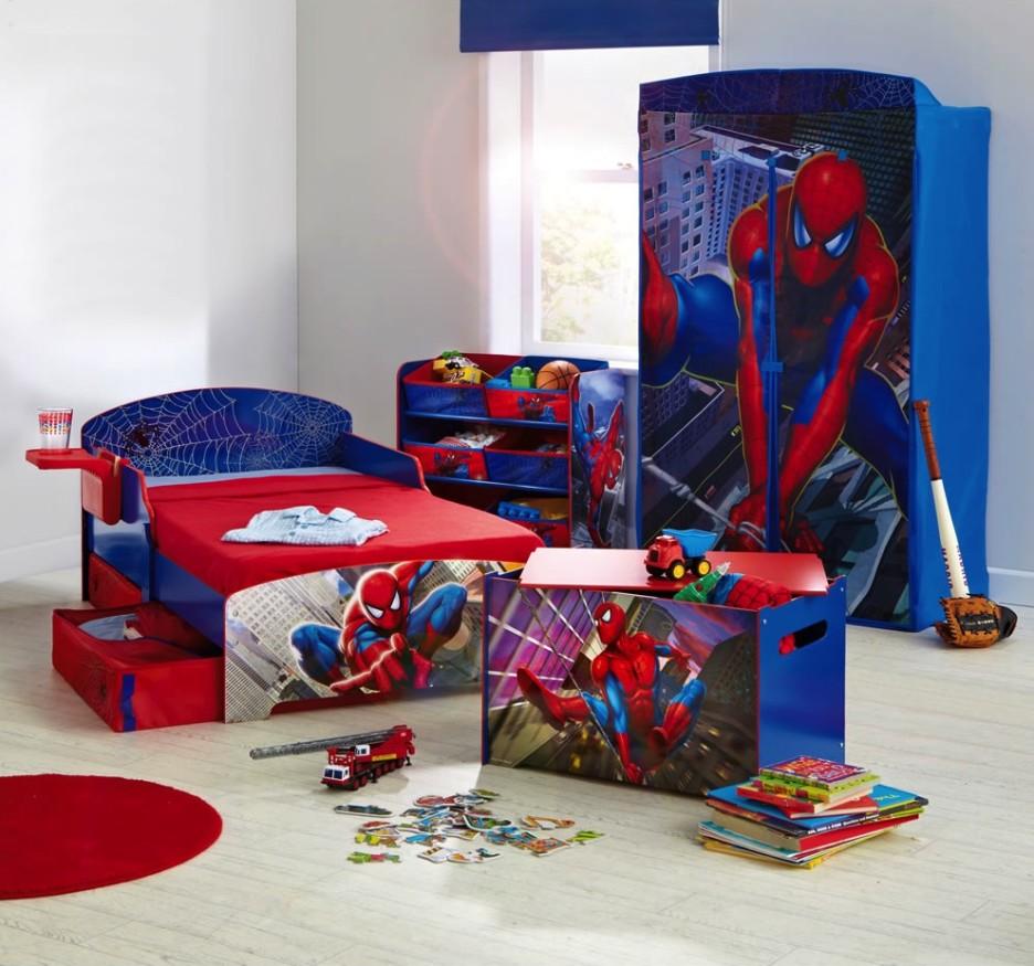 phòng ngủ đầy đủ đồ đạc người nhện