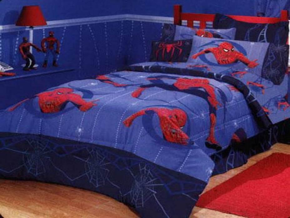 căn phòng người nhện dành cho bé trai