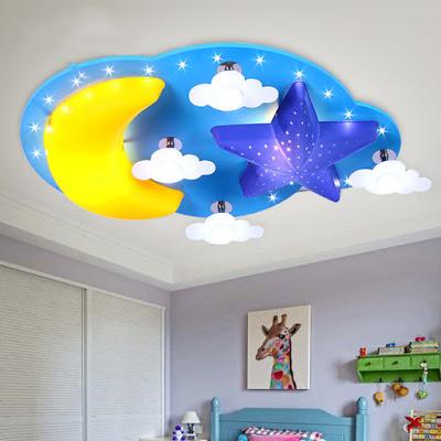 trần thạch cao dành cho phòng ngủ bé trai