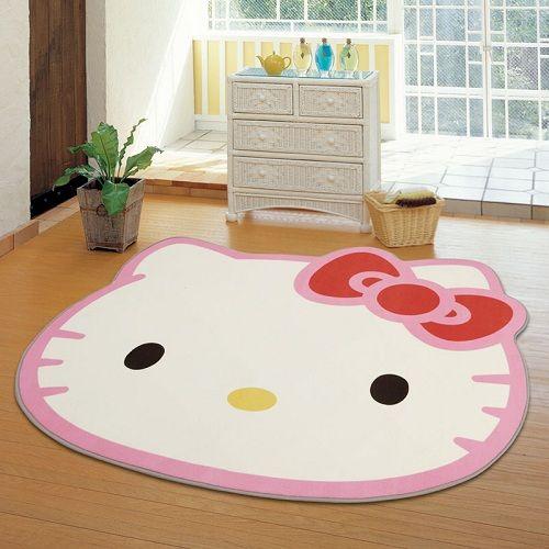 thảm trắng mặt mèo Hello Kitty