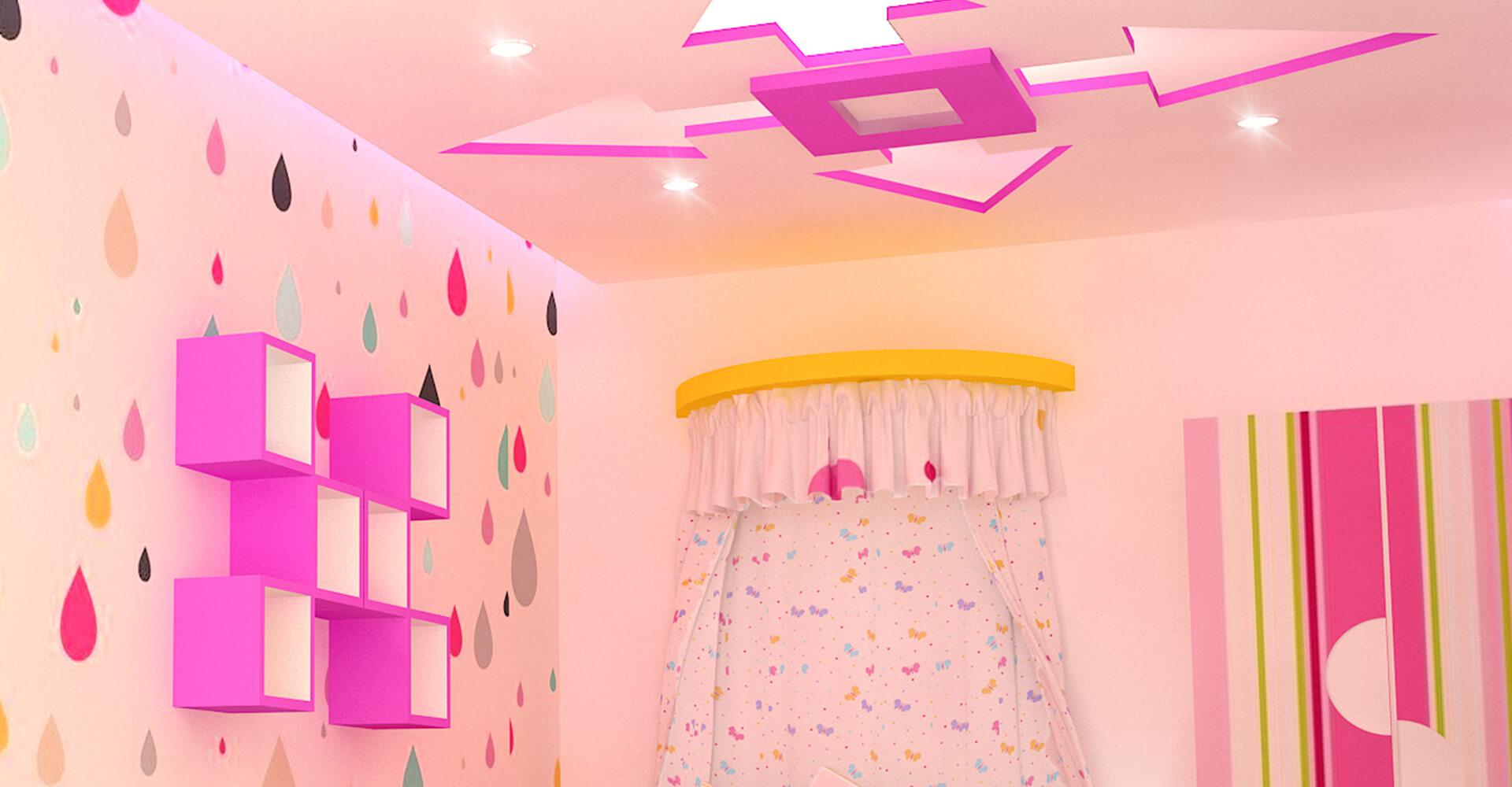 trần thạch cao đẹp dành cho phòng trẻ em