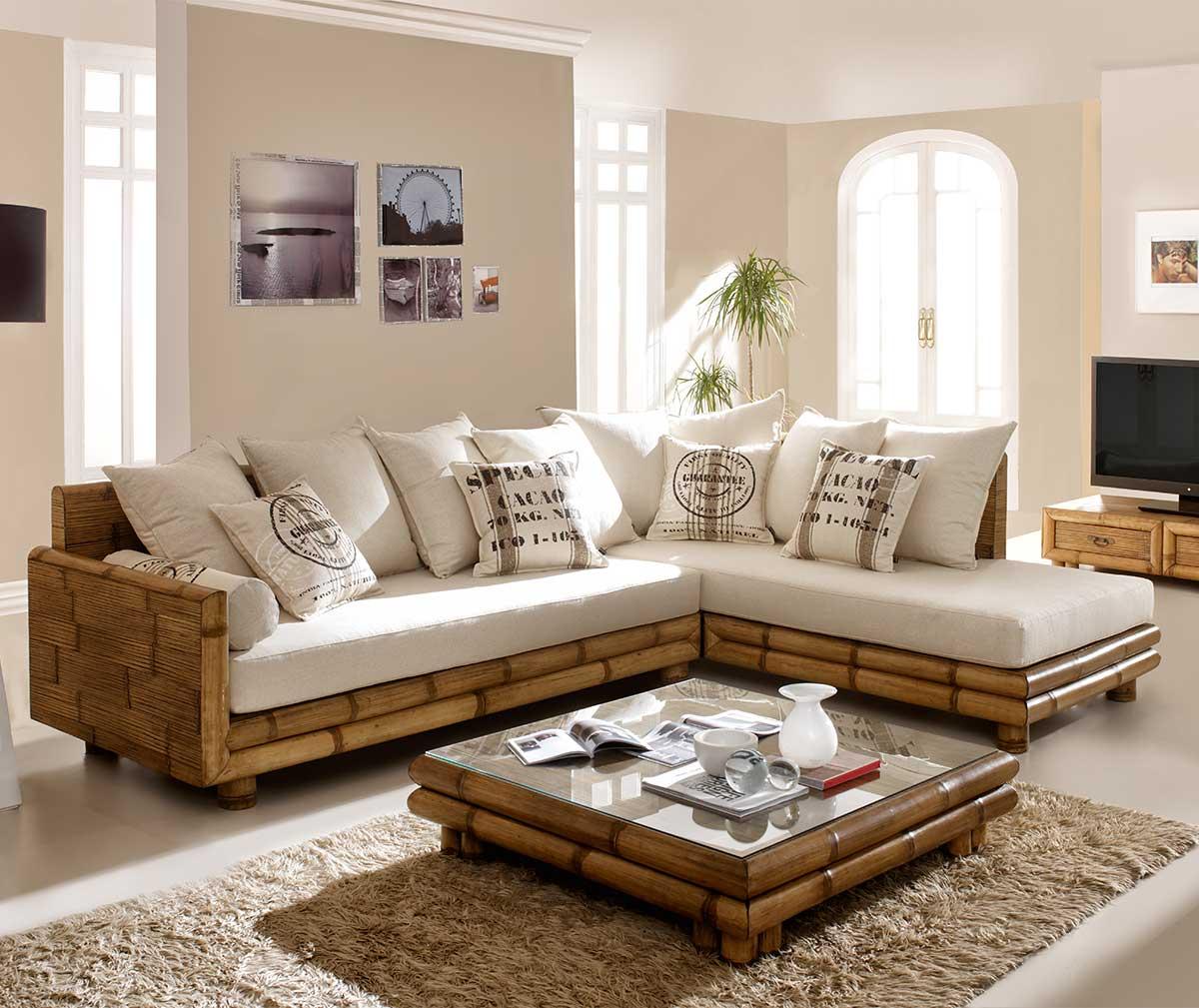 sofa góc bằng tre đẹp