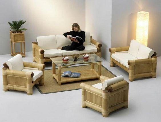ghế sofa khung tre làm bằng tay