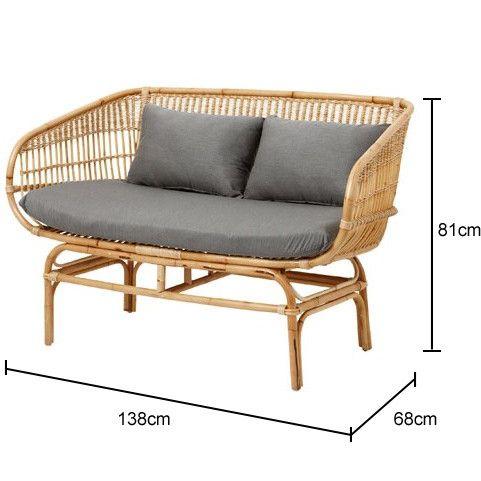 kích thước ghế sofa mây tre đan tự nhiên