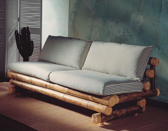 ghế sofa đệm khung tre