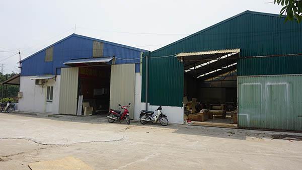 Hệ thống nhà xưởng rộng của Sofa Toàn Quốc tại Long Biên và Thạch Thất