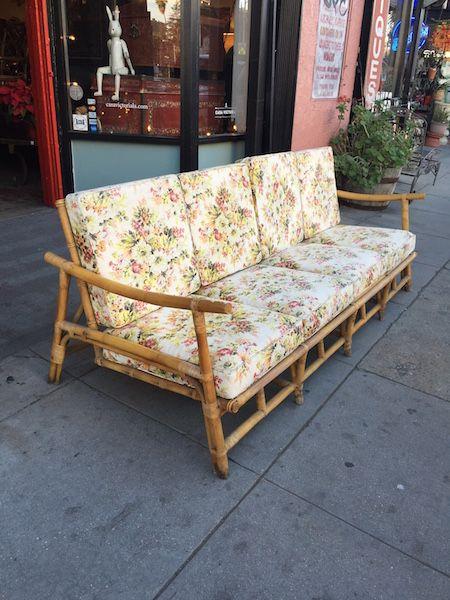 sofa khung gỗ tre kiểu sofa văng
