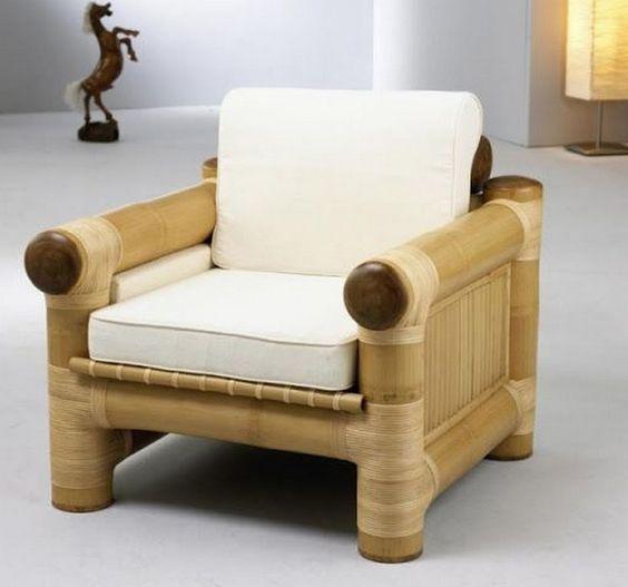 sofa đơn bằng tre