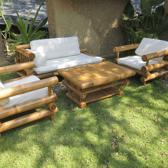 bộ bàn ghế sofa, bàn trà bằng tre đẹp