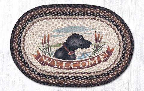 thảm chùi chân welcome hình chú chó