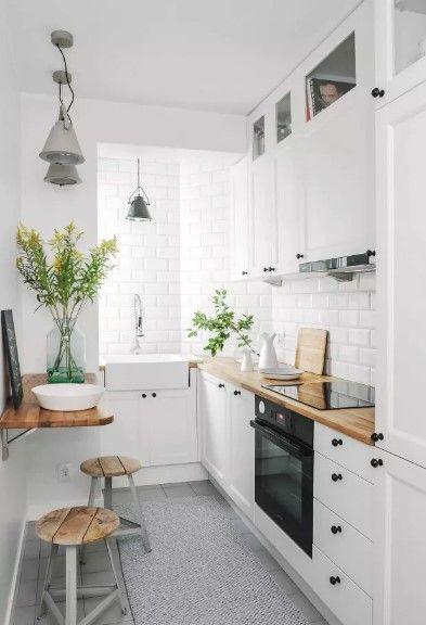 phòng bếp diện tích nhỏ gọn xinh xắn