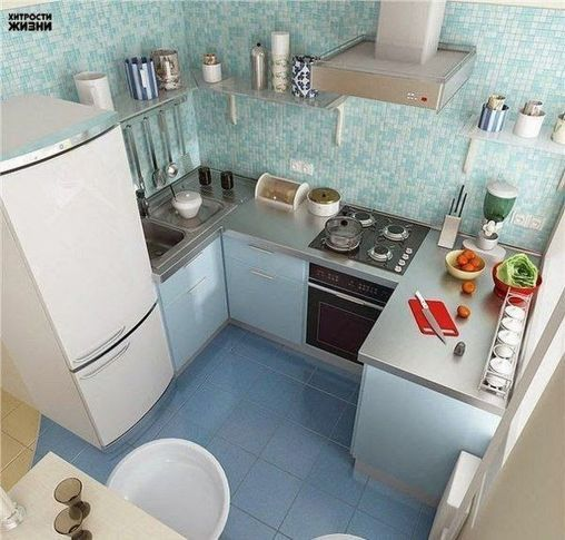 diện tích phòng bếp nhỏ dễ sử dụng