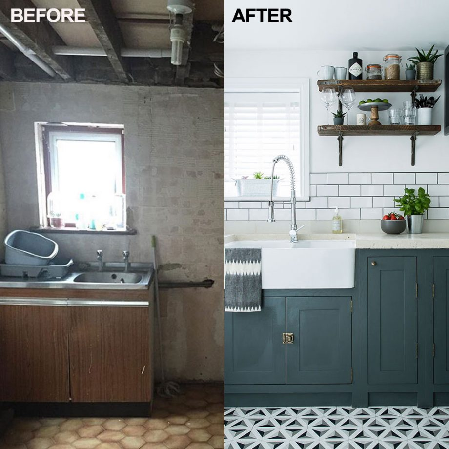 thay đổi phòng bếp trước và sau