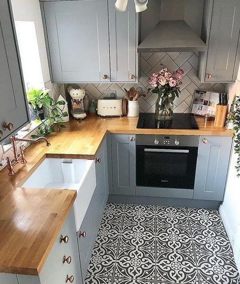 phòng bếp đẹp và sang nhỏ gọn
