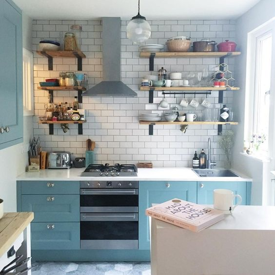 ý tưởng trang trí phòng bếp chung cư hiện đại
