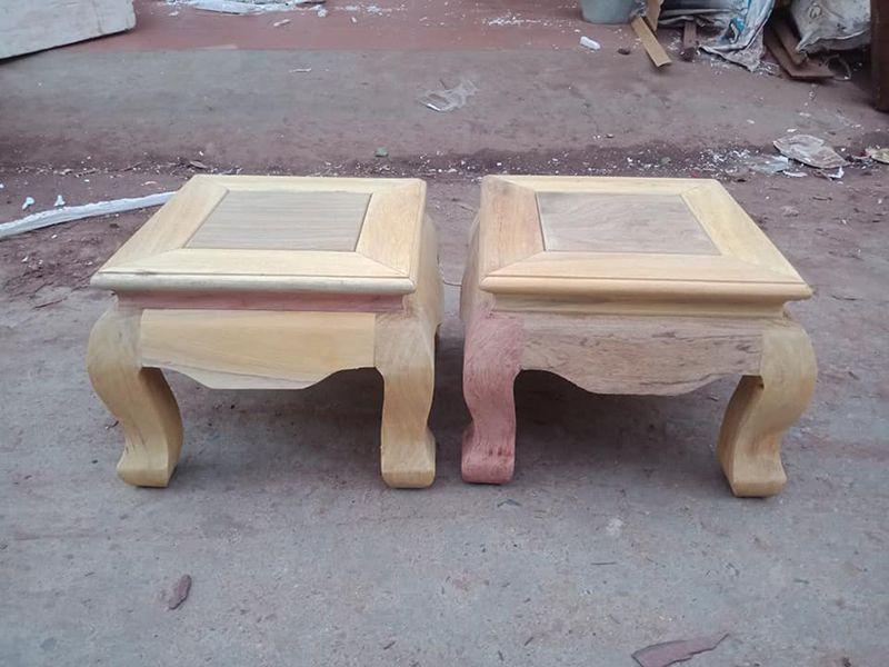 đôn ghế gỗ vuông thấp
