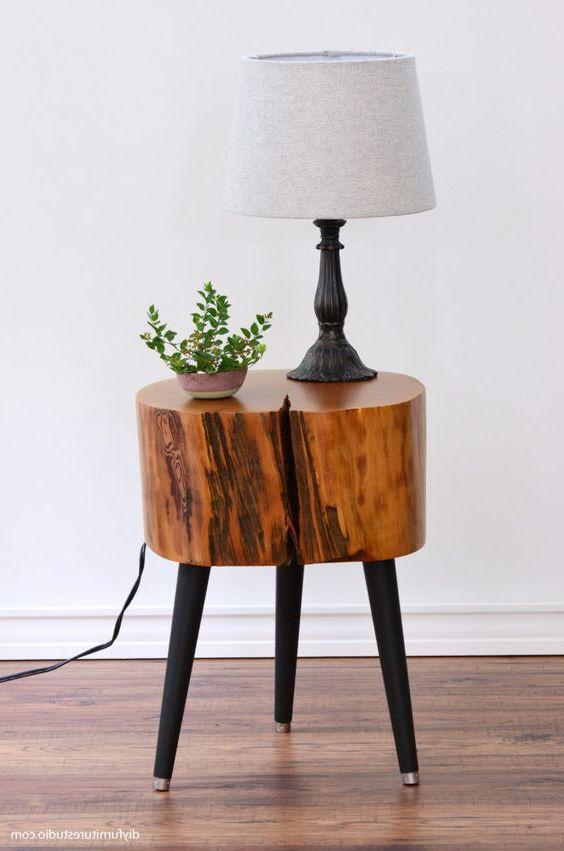 đôn gỗ tròn nguyên khối