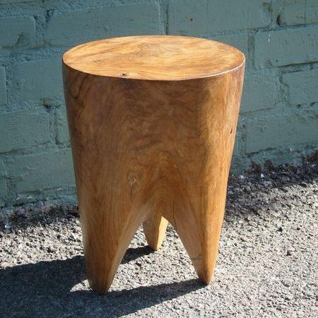 đôn tròn gỗ hương nguyên khối