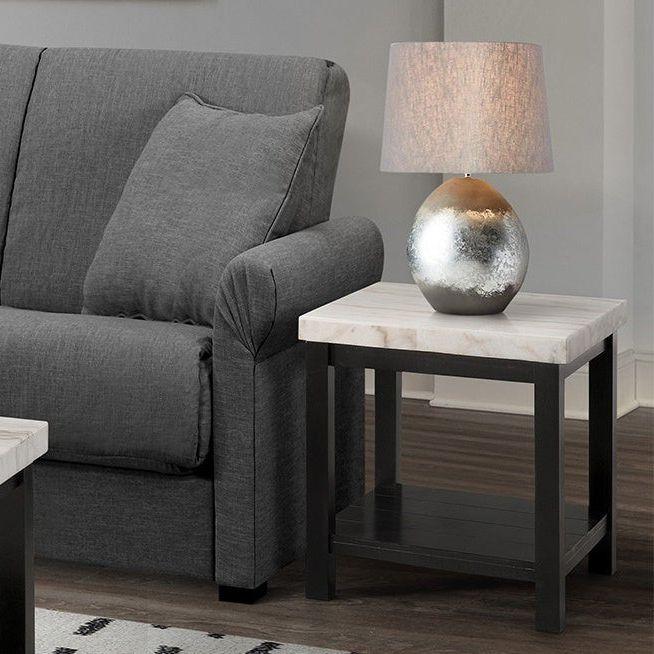 đôn ghế gỗ vuông mặt đá marble