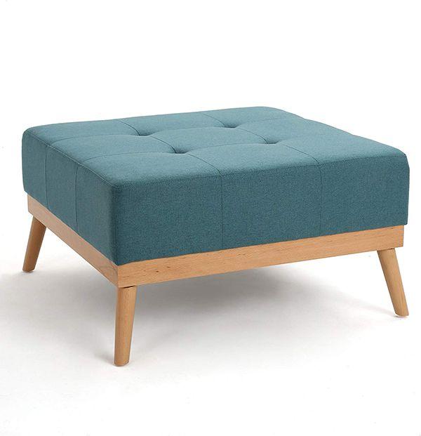 đôn ghế gỗ vuông bọc đệm