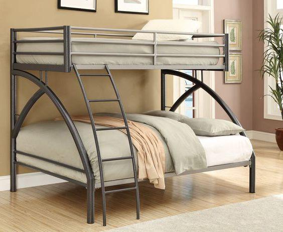 giường ngủ khung sắt đẹp dạng 2 tầng