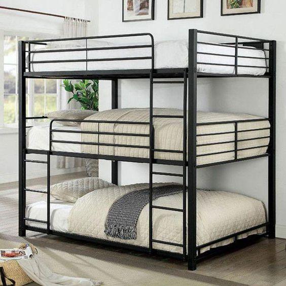 giường ngủ 3 tầng khung sắt