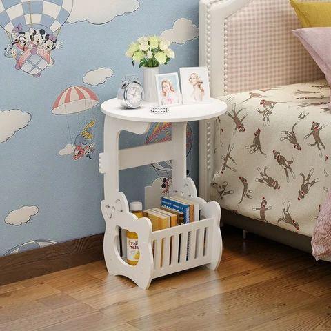 bàn trà phòng ngủ kết hợp đôn ghế