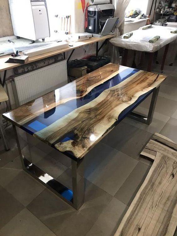 mặt bàn ăn epoxy resin