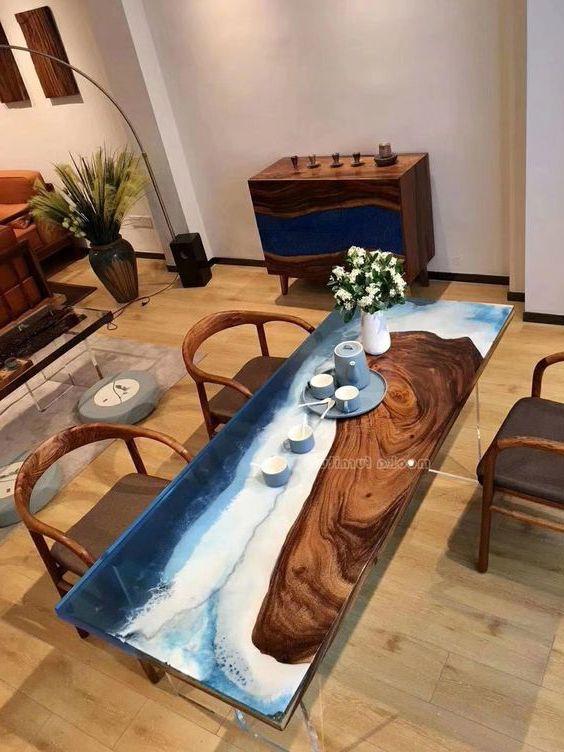 mặt bàn gỗ epoxy resin