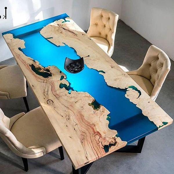 bàn ăn epoxy resin