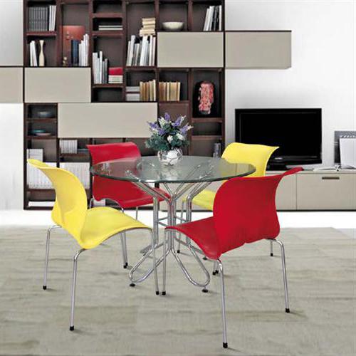 Bàn ghế ăn Xuân Hòa giá bao nhiêu với bàn chân inox mặt kính?