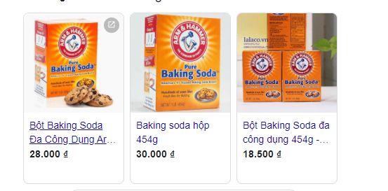 Giá baking soda khá rẻ nên dùng để làm sạch sofa rất tiết kiệm.