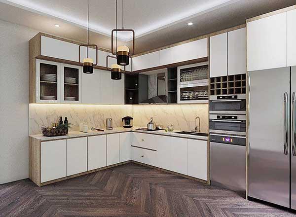 Từng chất liệu khác nhau giá tủ bếp sẽ khác nhau.