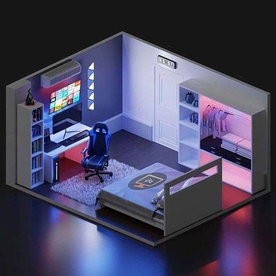 trang trí phòng ngủ game thủ