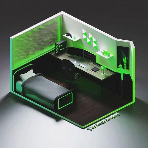 phòng ngủ gaming cho game thủ