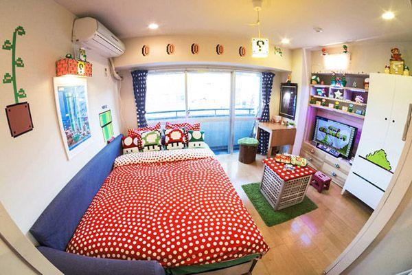 phòng ngủ gaming super mario