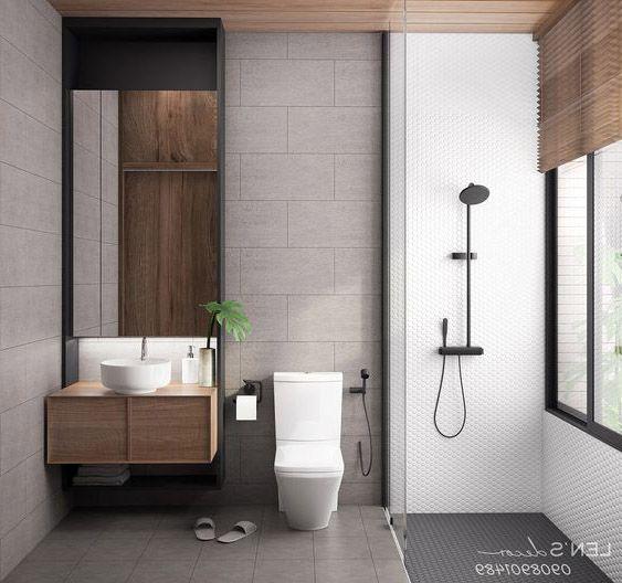 phòng tắm hiện đại đơn giản