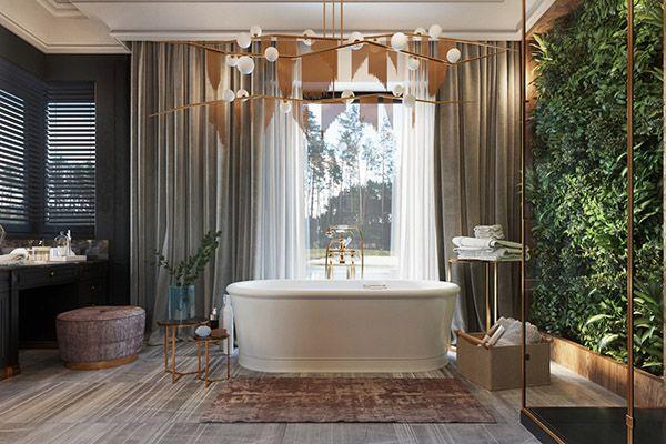 phòng tắm hiện đại view đẹp