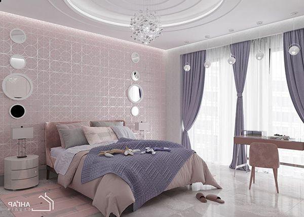 phòng ngủ pastel hồng