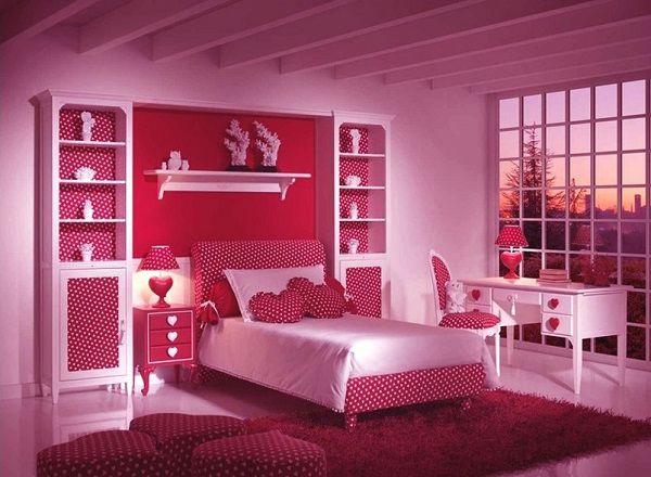 phòng ngủ màu hồng tím sang trọng đẹp mắt